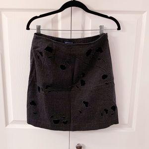 Ann Taylor Velvet Floral Skirt